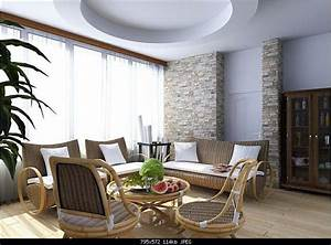Countryside style livingroom design 3d model downloadfree for Interior design living room in 3ds max