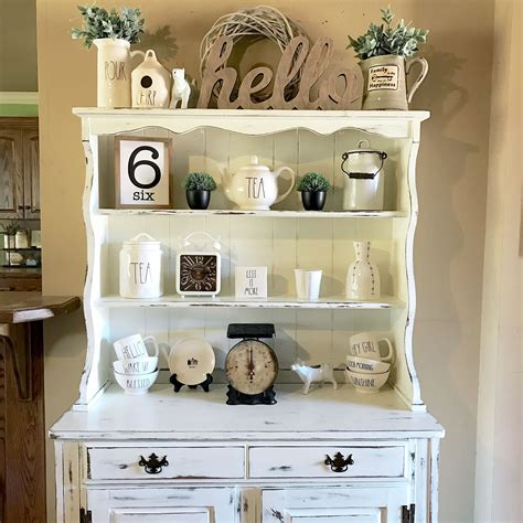 hutch   chalk painted  distressed   rae