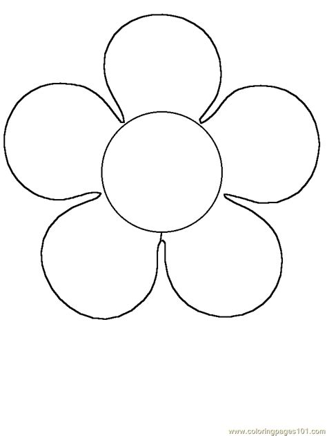 printable flower images coloring home