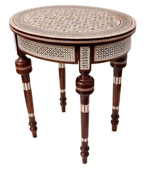 mother of pearl table l handcrafted egyptian moroccan mother of pearl inlay wood