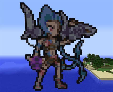 Jinx From League Of Legends (minecraft Pixel Art