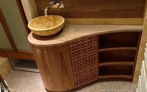 fabrication dun meuble de salle de bain en bois de teck With meuble salle de bain ethnique