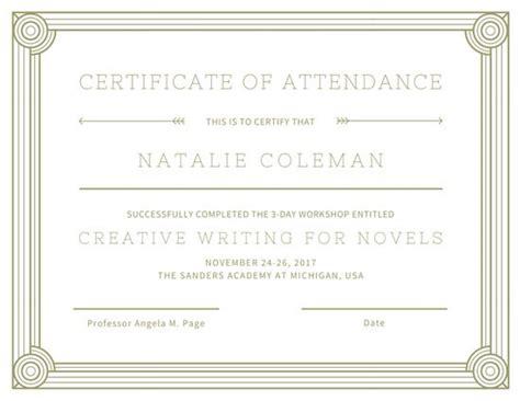 certificate of attendance seminar template wine tasting attendance certificate templates by canva