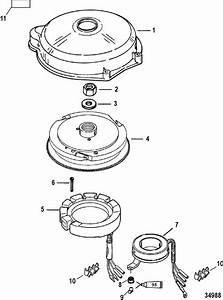 Mariner 60 Hp  3 Cylinder  Flywheel  U0026 Stator  Electric Parts