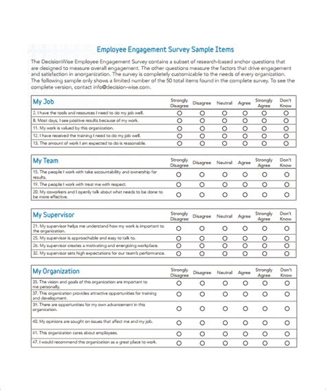 employee survey questions work environment survey