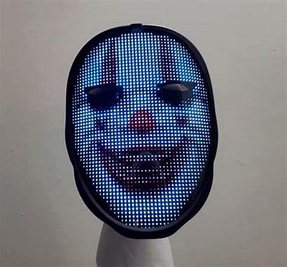 Led Mask Face Programmable Customizable Aren Creepy