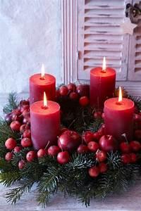 Adventskranz Rot Selber Machen : adventskranz ideen bilder rote kerzen adventskranz ideen ~ Articles-book.com Haus und Dekorationen