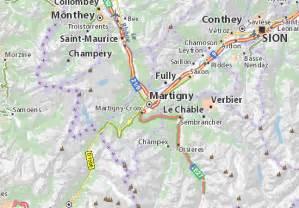 Www Via Michelin by Map Of Martigny Michelin Martigny Map Viamichelin