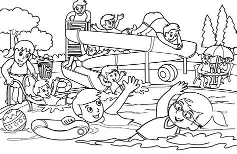 Catatanku Anak Desa Mewarnai Gambar Berenang