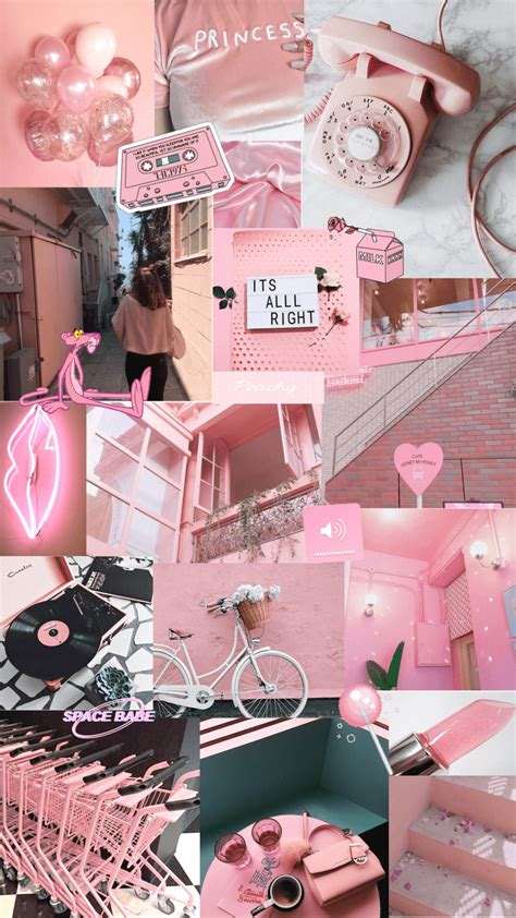 pink aesthetic collage wallpapers