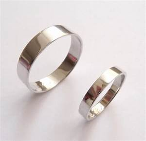 white gold wedding band set women wedding ring men wedding With flat womens wedding rings