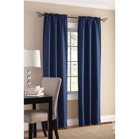Absolute Zero Curtains Walmart by Eclipse Blackout Window Curtain With Bonus Panel