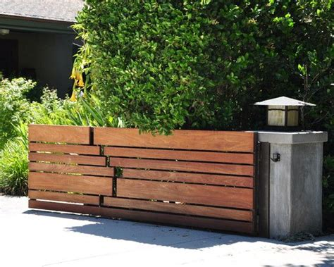 wood gate designs horizontal slat fence design pictures remodel decor and
