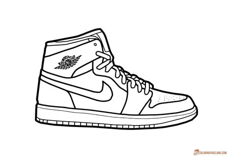 Shoe Logo Coloring Pages