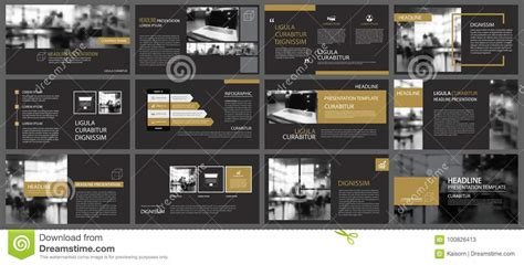 black gold  templates  infographics