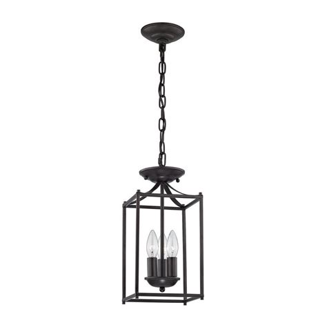 foyer collection 3 light rubbed bronze pendant tn