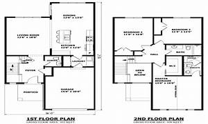 Modern two story house plans 2 floor house two storey for Two storey house design and floor plan