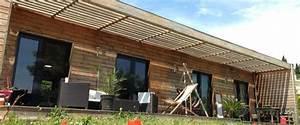 maison ossature bois maison bois contemporaine toit plat With plan de maison moderne 1 plan facades maison ossature bois primaude epure bois