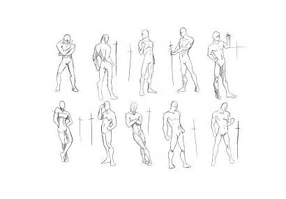 Poses Drawing Action Concept Fantasy Sketches Characters