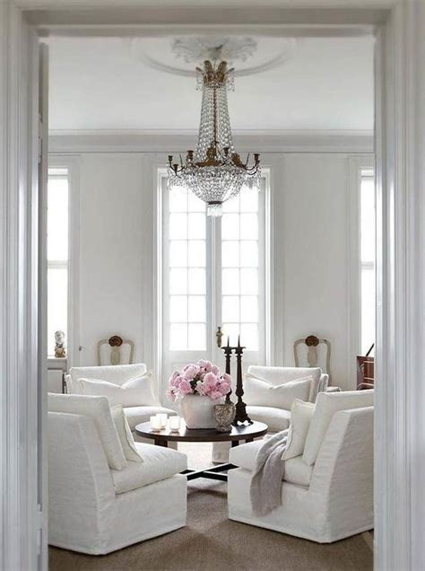slipcovered chairs french living room slettvoll
