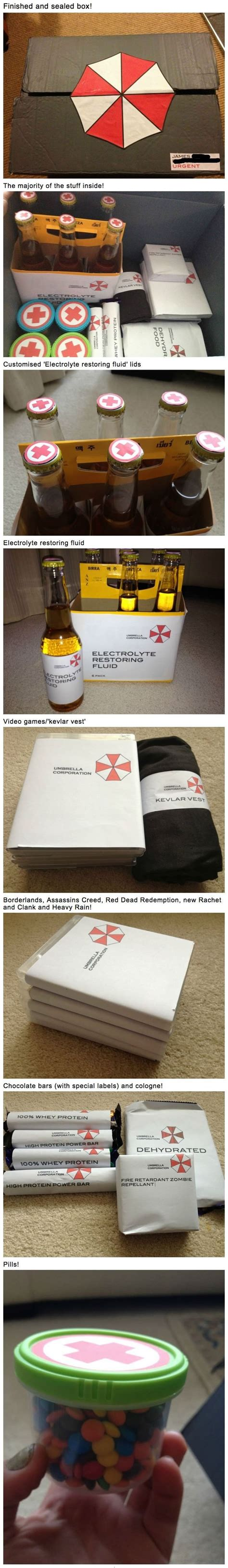 survival zombie kit resident evil birthday inspired diy surprises gift funny gifts