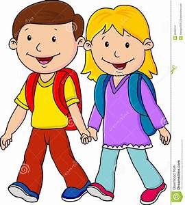 Children Going To School Clipart - ClipartXtras