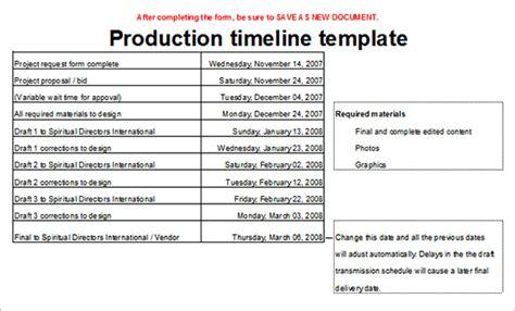 5+ Production Timeline Templates