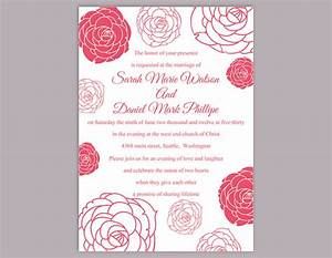 diy wedding invitation template editable word file instant With free printable rose wedding invitations
