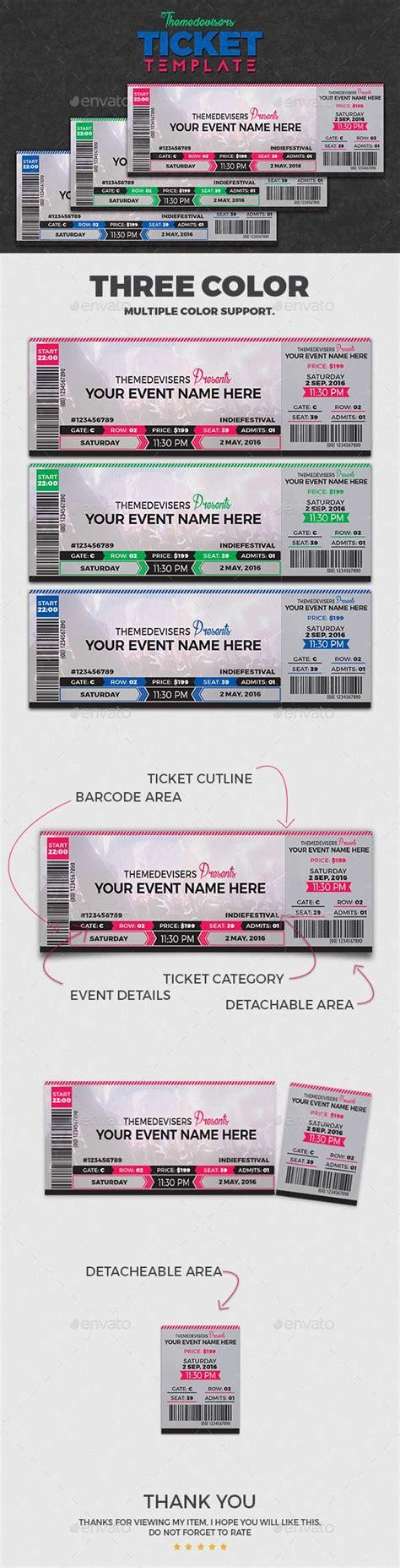 Concert Ticket Template Best 20 Ticket Template Ideas On Ticket