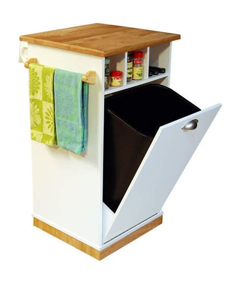 trash can storage cabinet pantry tower w butcher block top cart kitchen island