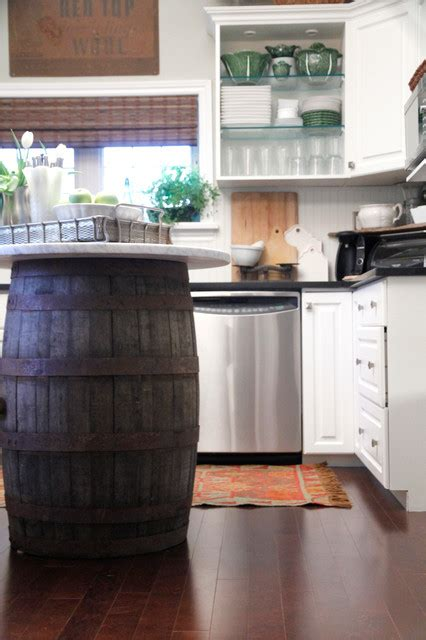 microwave kitchen cabinet 10 creative ways to corral wooden barrels 4121
