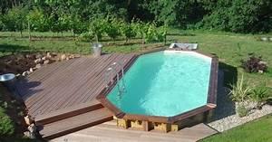 Amenagement Autour Piscine Hors Sol : comment am nager les alentours de sa piscine semi enterr e ~ Nature-et-papiers.com Idées de Décoration