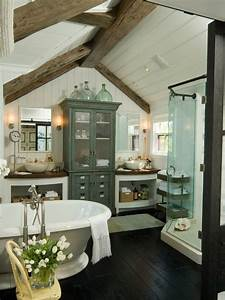 62 Cozy And Relaxing Farmhouse Bathroom Designs