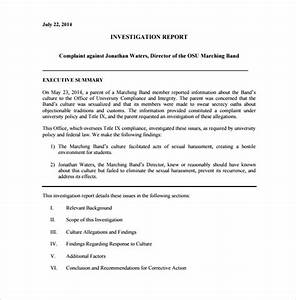 sample investigation report template 13 free documents With fire investigation template