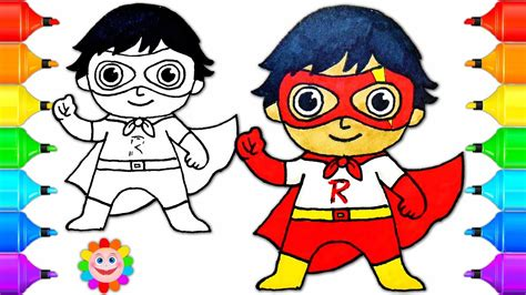 How To Draw A Super Hero Boy Ryan From Ryan Toys Review