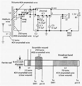 Only Wiring And Diagram  Two Band Radio Schematic