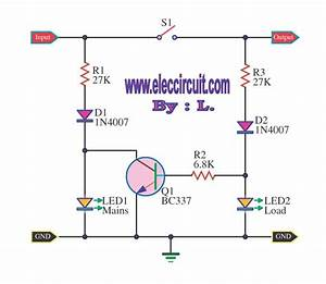 Mains Voltage Indicator With A Led   U2013 Electronic Projects