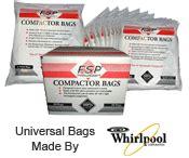 trash compactor bags kitchenaid whirlpool ge broan