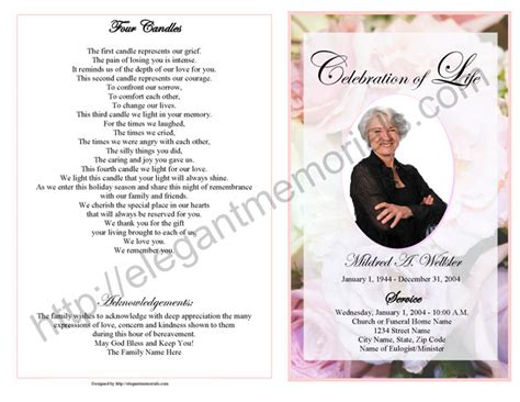 obituary program template how to write an obituary for template business