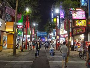 Ximending in Taipei (a busy night street for shopping and ...
