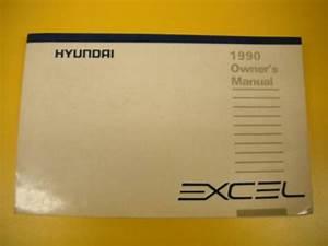 Excel 90 1990 Hyundai Owners Owner U0026 39 S Manual Free Ship