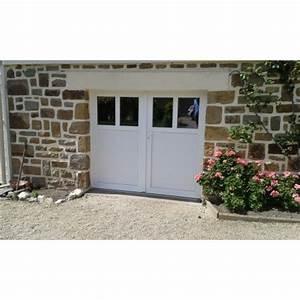 porte de garage battante et portillon integre ouverture a With porte de garage pvc 2 vantaux