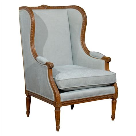 walnut louis xvi style wingback berg 232 re chair with