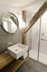 Salle De Bain Bois : la poutre en bois dans 50 photos magnifiques ~ Teatrodelosmanantiales.com Idées de Décoration