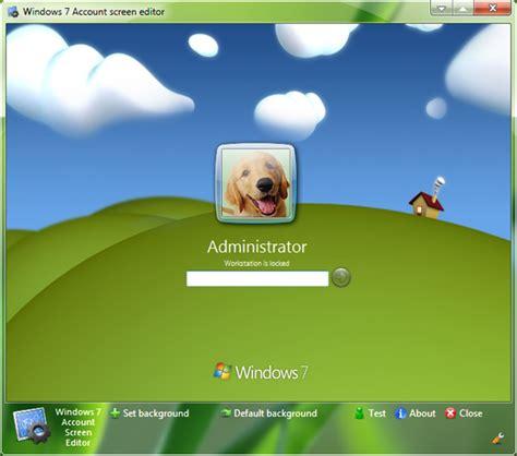 windows  account screen edition