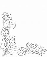 Border Leaves Autumn Corner Clipart Leaf Coloring Pages Patterns Embroidery Fall Printable Quilling Hand Designs Printables Pattern Drawing Cards Digi sketch template