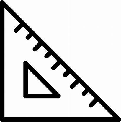Ruler Triangle Icon Clipart Rule Tool Scale