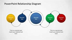 Powerpoint Relationship Diagram Linear Connection