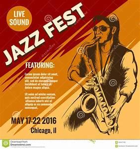 Jazz music festival poster stock vector. Image of artist ...