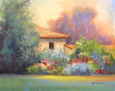 daily painters  minnesota tuscan garden home  joni